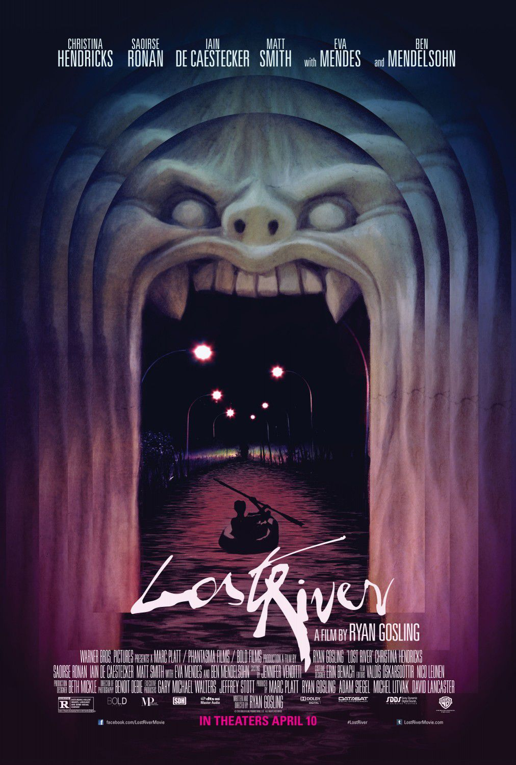 Film by Ryan Gosling - Lost river - Christina Hendricks - Saoirse Ronan - Ian De Caestecker - Matt Smith - Eva Mendes - Ben Mendelsohn - poster