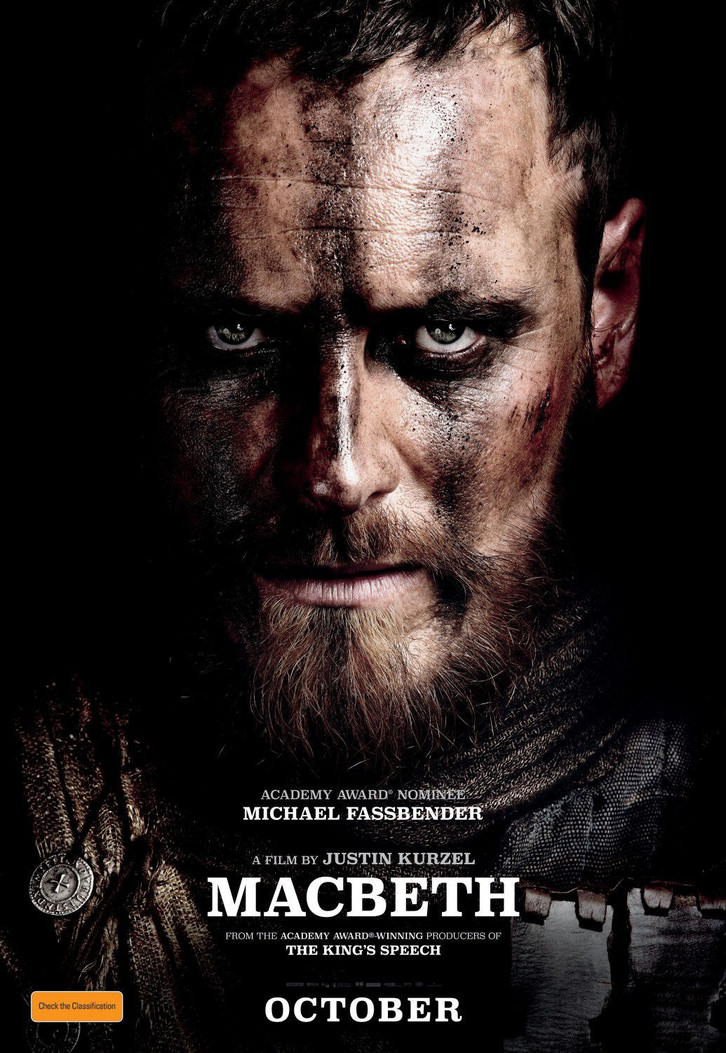 Macbeth (2015) - Michael Fassbender - film by Justin Kurzel - poster
