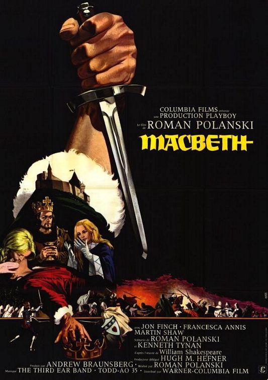 Macbeth (1971) - Roman Polanski - Jon Finch - Francesca Annis - Martin Shaw - old cult film poster