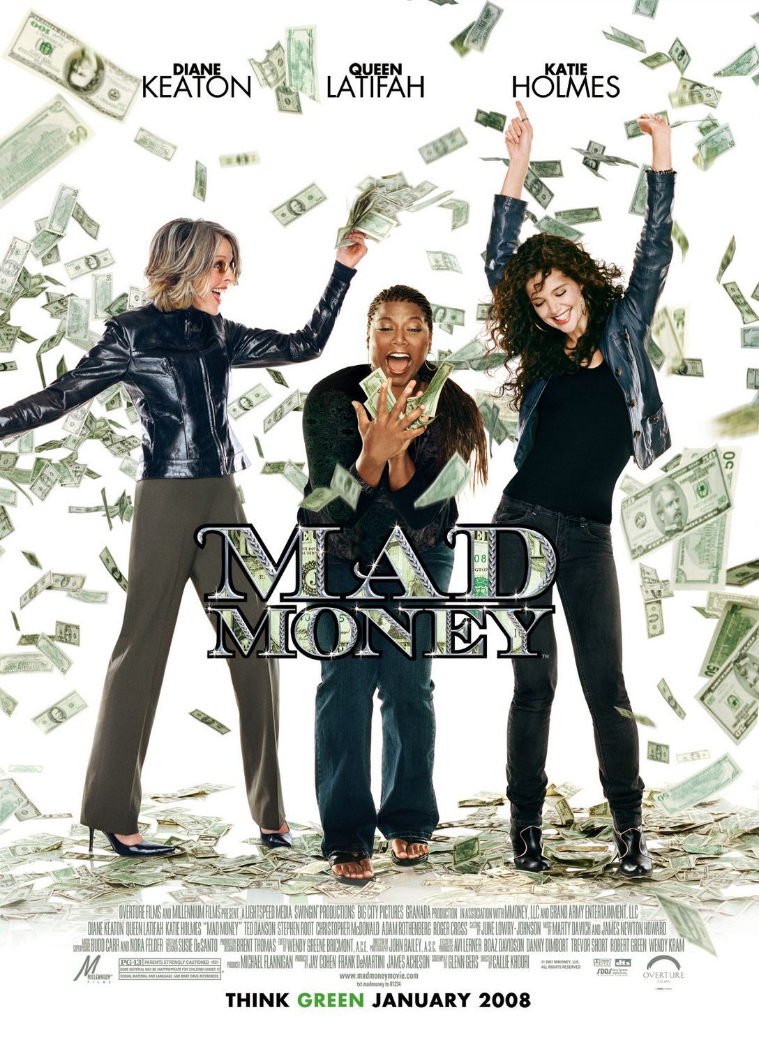Mad Money - 3 Donne al Verde - Diane Keaton - Queen Latifah - Katie Holmes - film poster