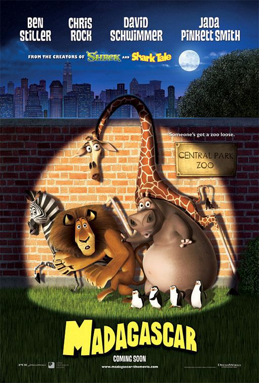 Madagascar animated film poster  - excape