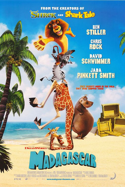 Madagascar animated film poster