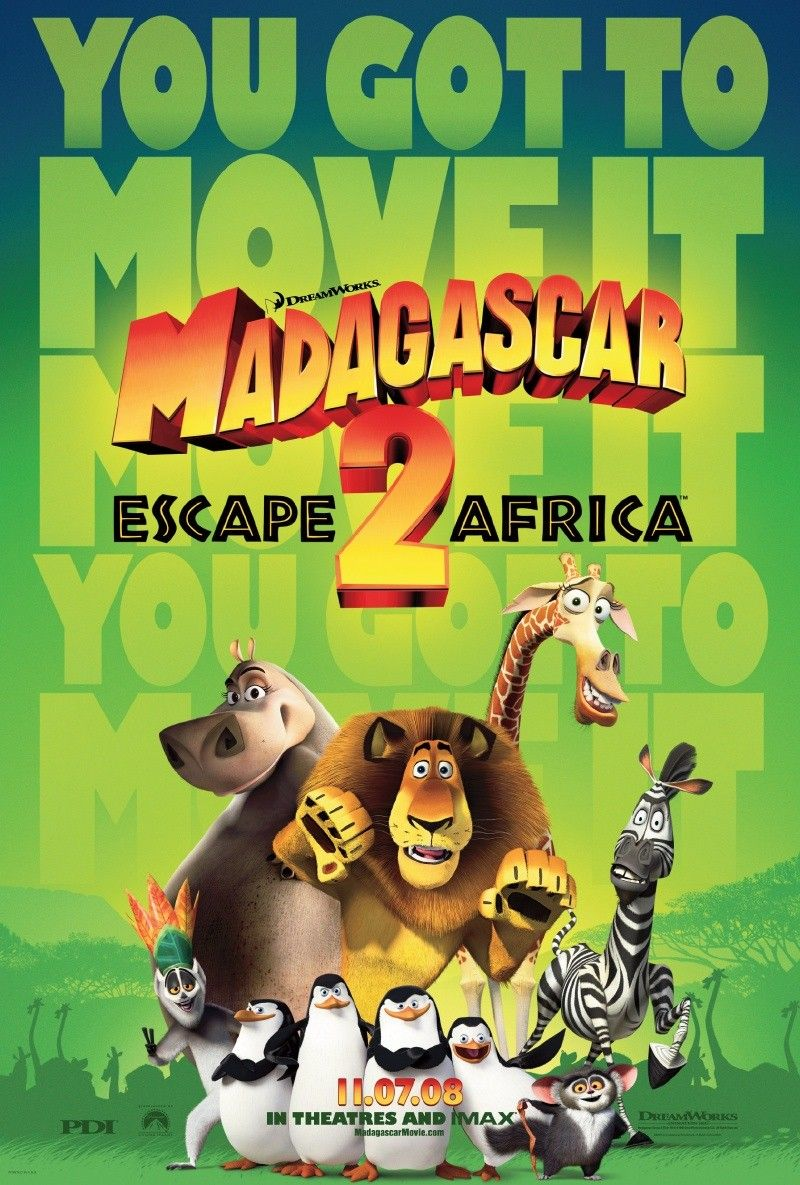 Madagascar 2 - fuga dall'Africa - Escape from Africa - film poster