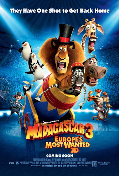 Madagascar 3 - animated film poster - circus - circo