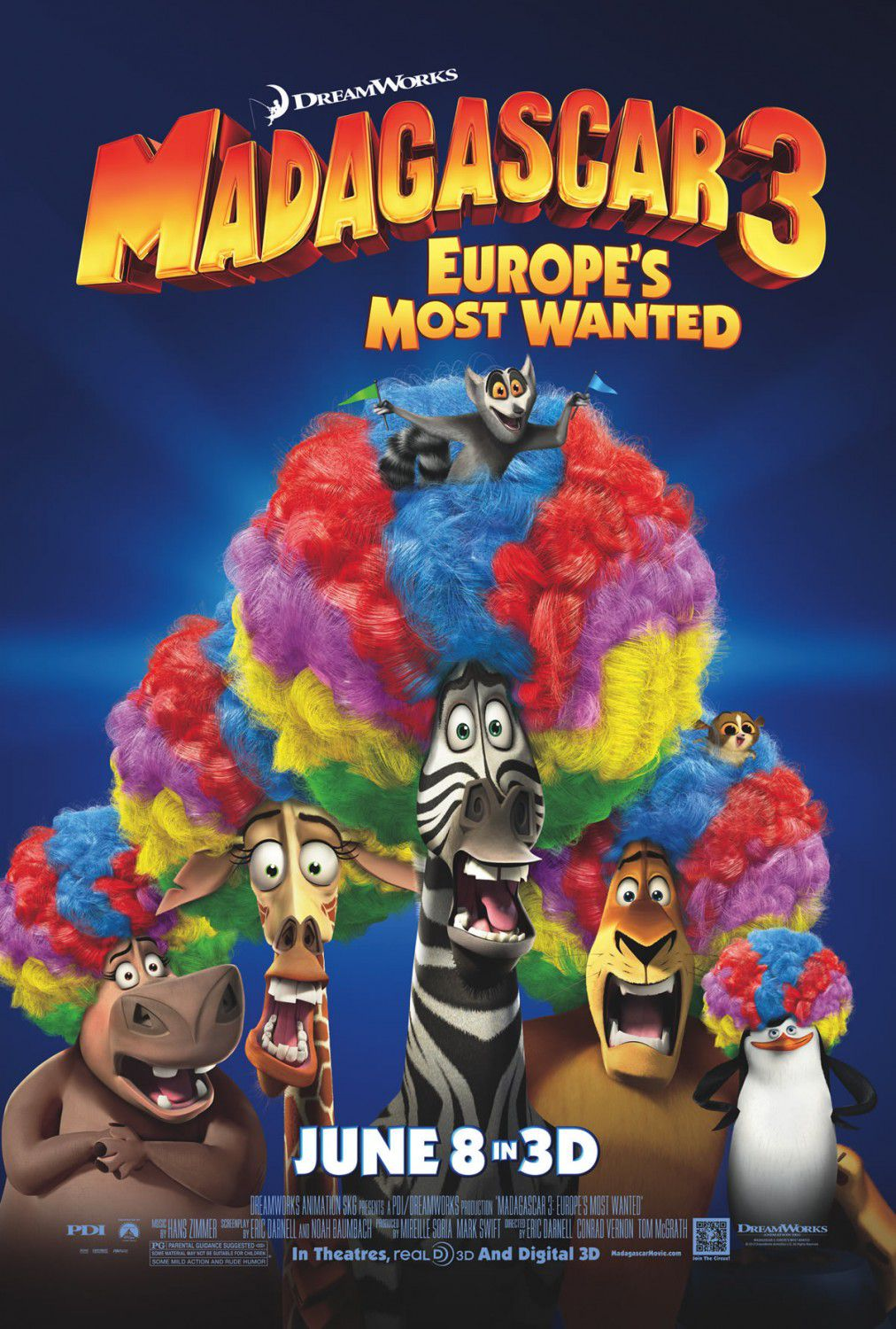 Madagascar 3 - animated film poster - clowns