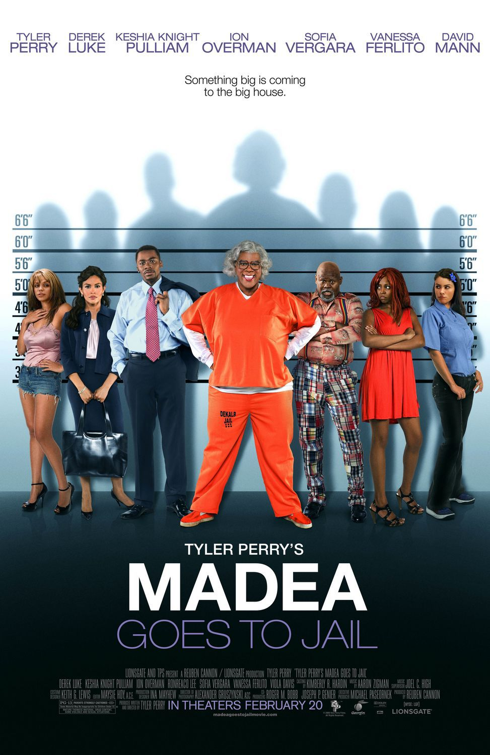 Madea goes to jail - Madea va in Prigione - Tyler Perry - Derek Luke - Keshia Knight Pulliam - Ion Overman - Sofia Vergara - Vanessa Ferlito - David Mann - film poster