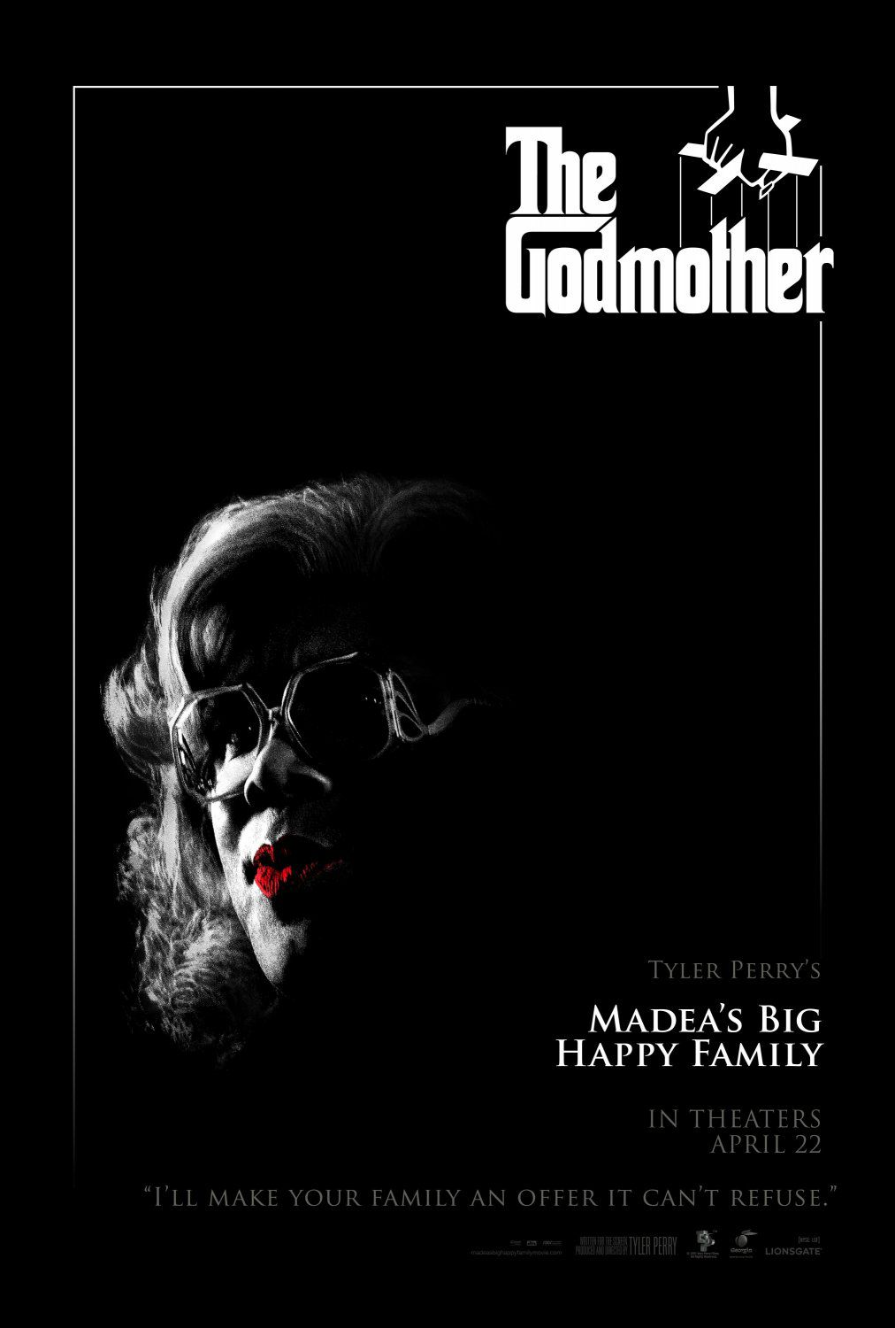 Madeas big Happy Family - Madea Famiglia Felice - Tyler Perry - film fun poster - Al Padrino Madea The GodMother