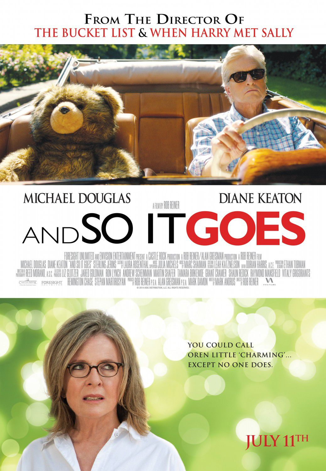 And so it goes - Mai così Vicini - Romance - Diane Keaton - Michael Douglas - film poster bear