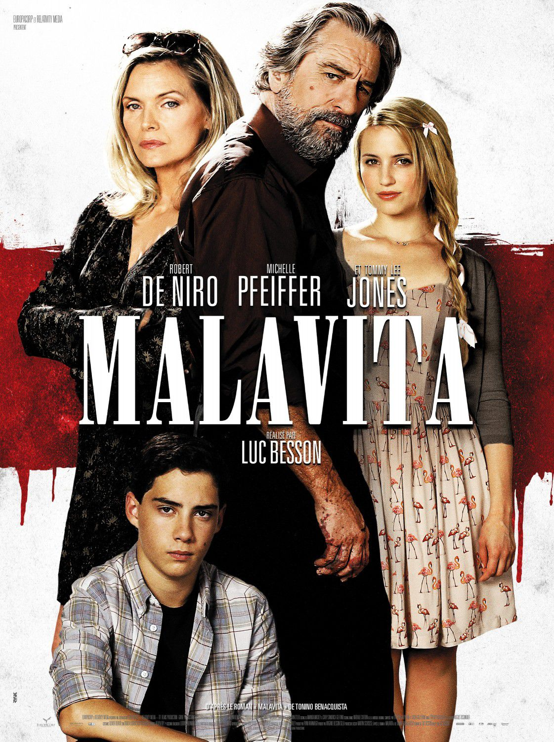 Cose nostre - Malavita - the Family - Robert DeNiro - Michelle Pfeiffer - Tommy Lee Jones - Luc Besson film poster