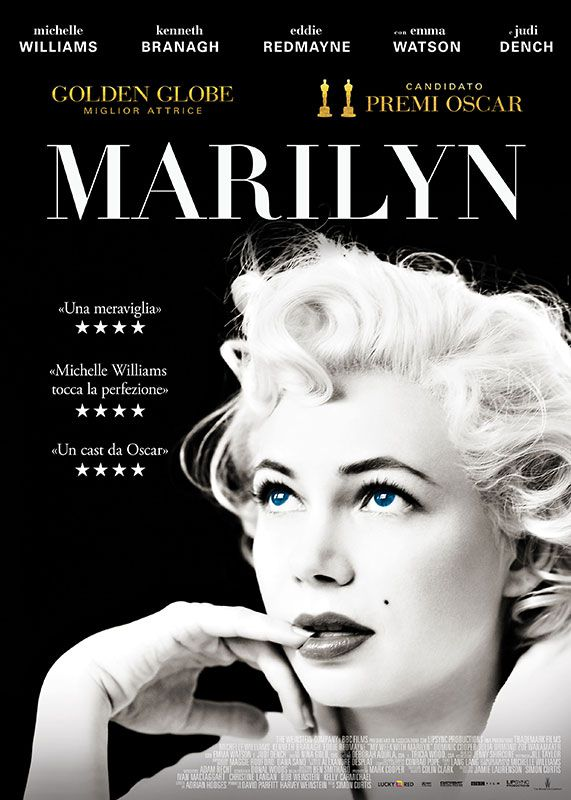 Marilyn film poster - Michelle Williams - Kenneth Branagh - Eddie Redmayne - Emma Watson - Judi Dench