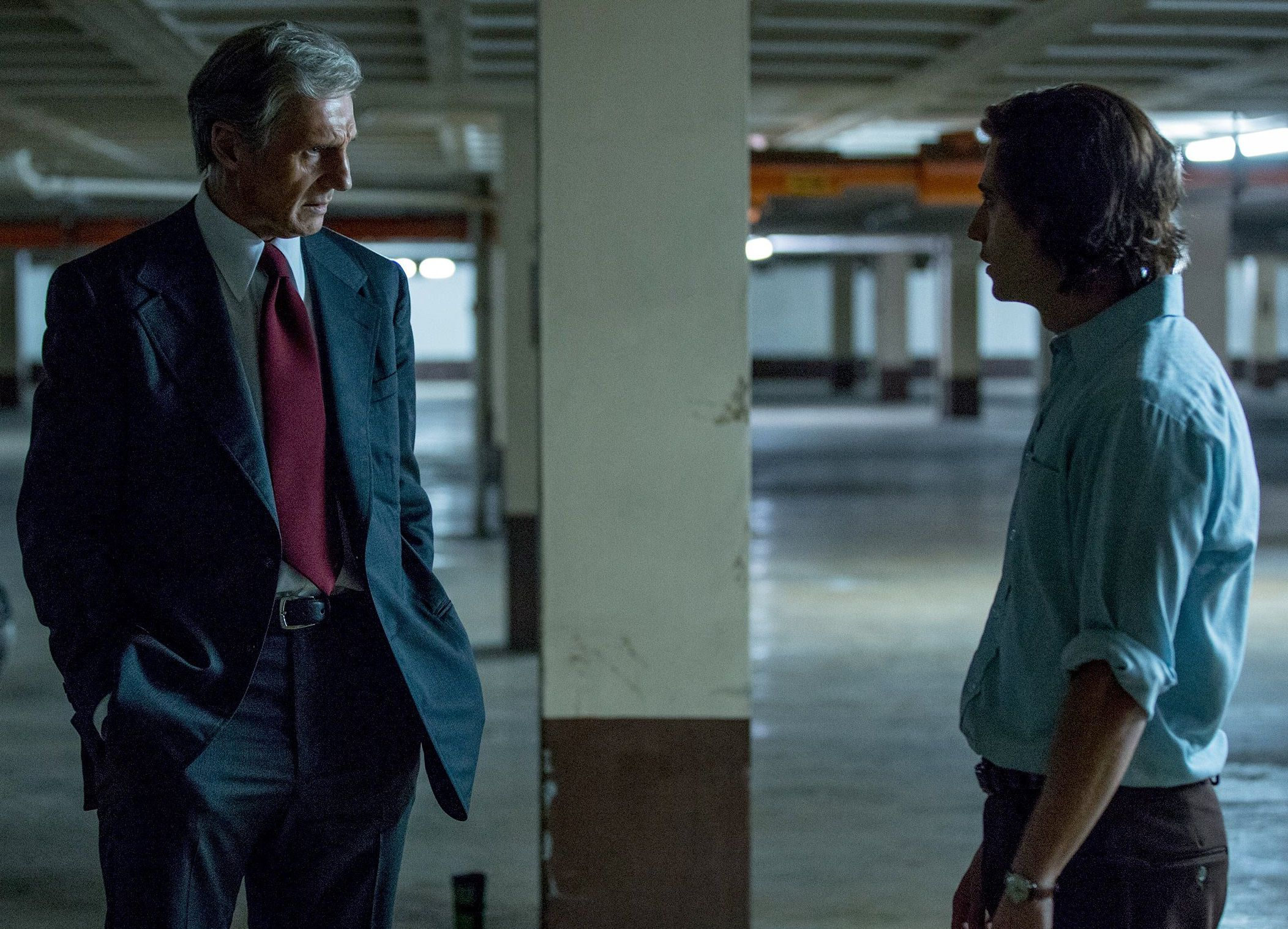 Mark Felt - film scene - Liam Neeson - watergate