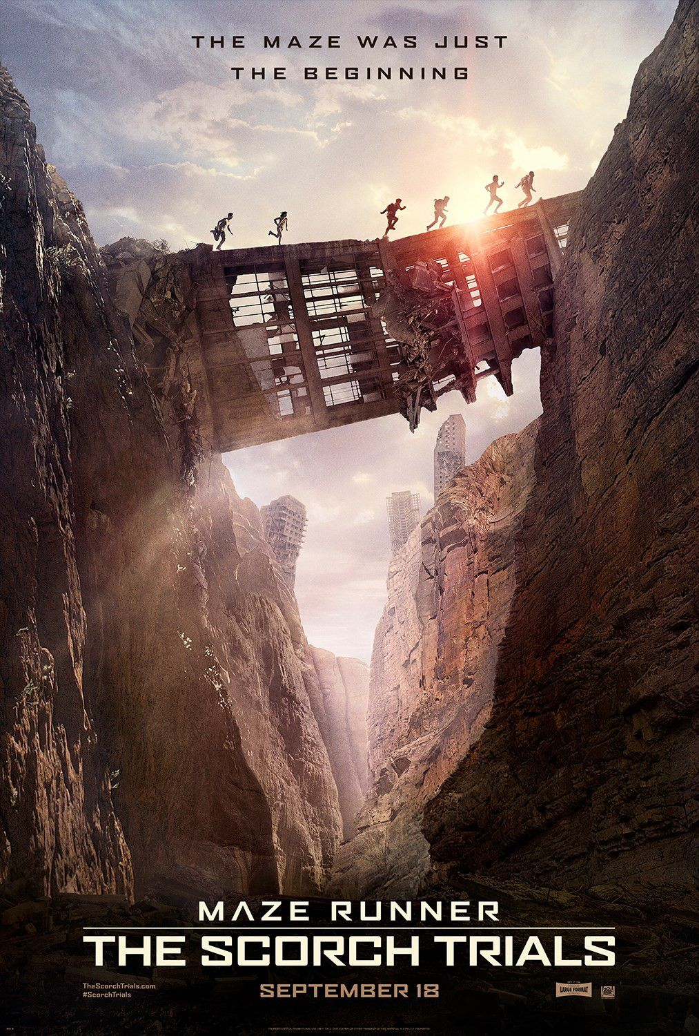 Maze Runner 2 - the Scorch Trials - La Fuga - film poster