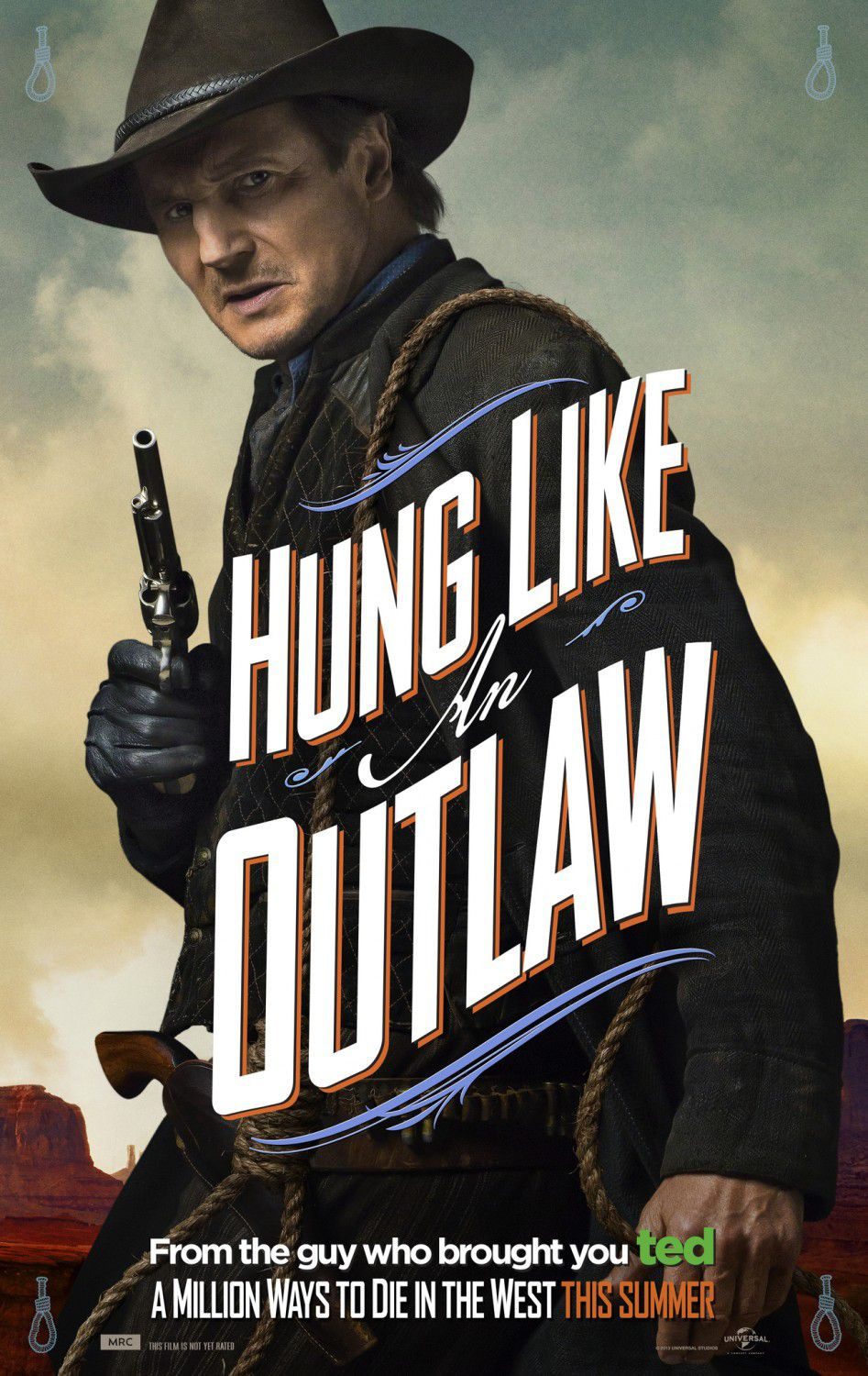 Million ways to Die in the West - Un milione di modi per morire nel West - Hung like Outlaw - Liam Neeson