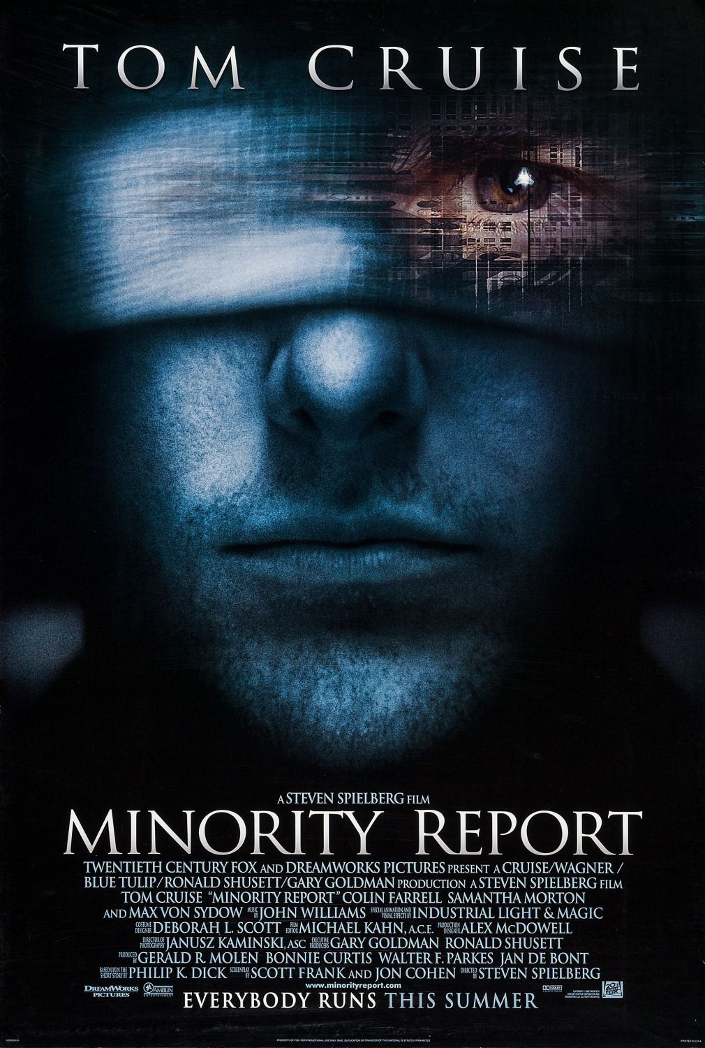 Minority report - Tom Cruise - film poster
