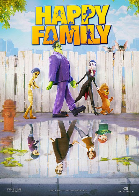 Monster Family - Funny animated monster adventure ... (Monster Family funny horror poster)