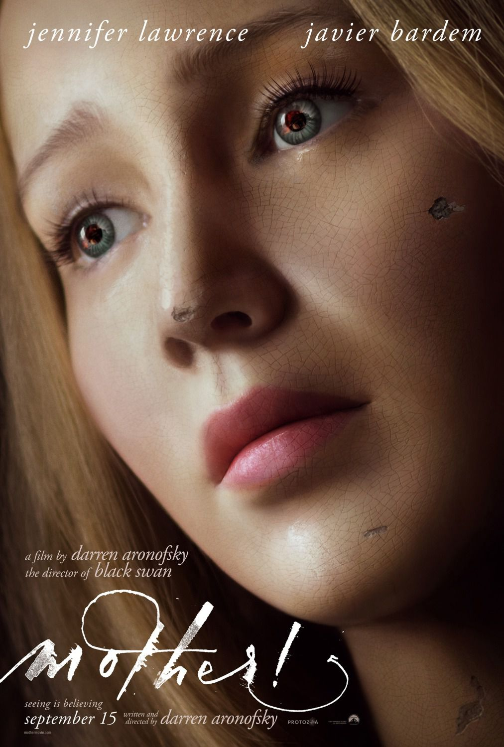 Mother - Madre - Jennifer Lawrence - Javier Bardem - film by Darren Aronofsky - poster