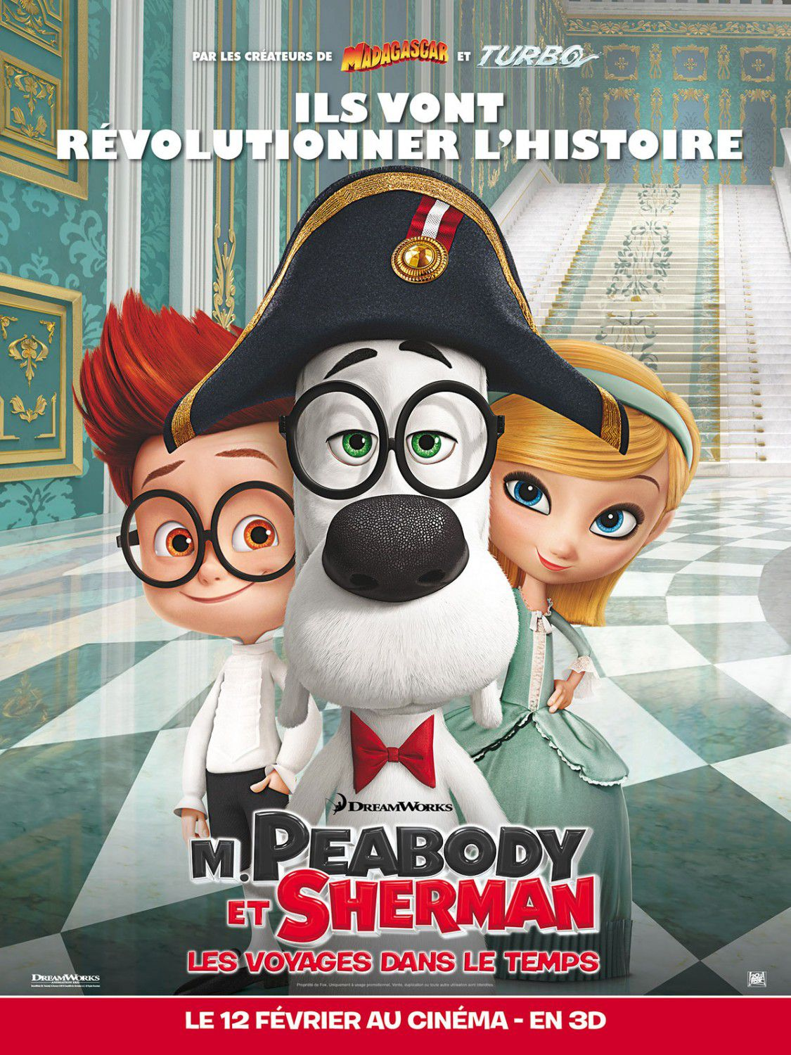 Mr Peabody and Sherman - animate film poster - Napoleon - Napoleone