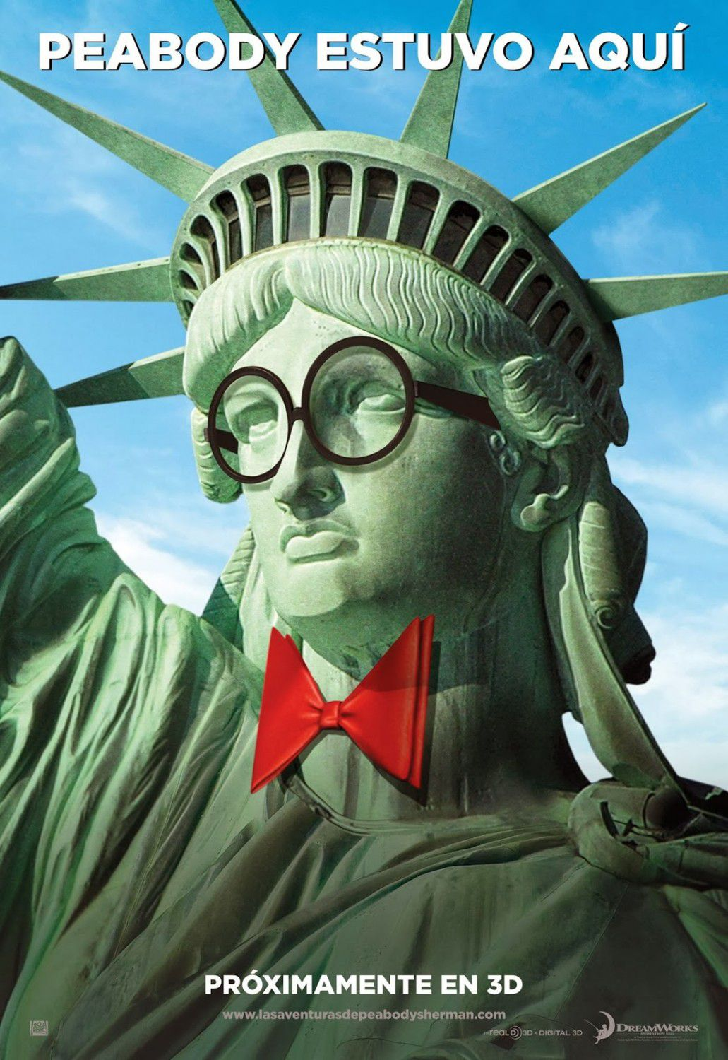 Mr Peabody and Sherman - animate film poster - New York - Statue of Liberty - Statua della Libertà