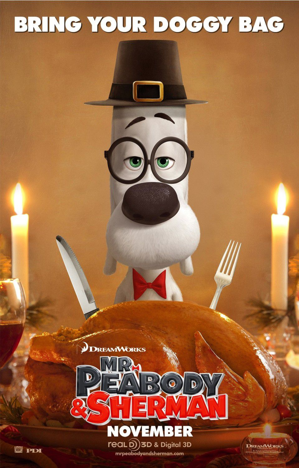 Mr Peabody and Sherman - animate film poster - Thanksgiving day