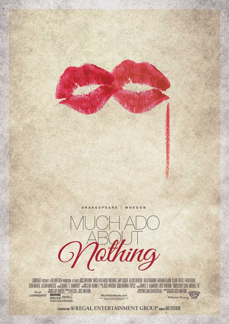 Much ado about nothing - Molto Rumore per Nulla (2013) by Joss Whedon - poster