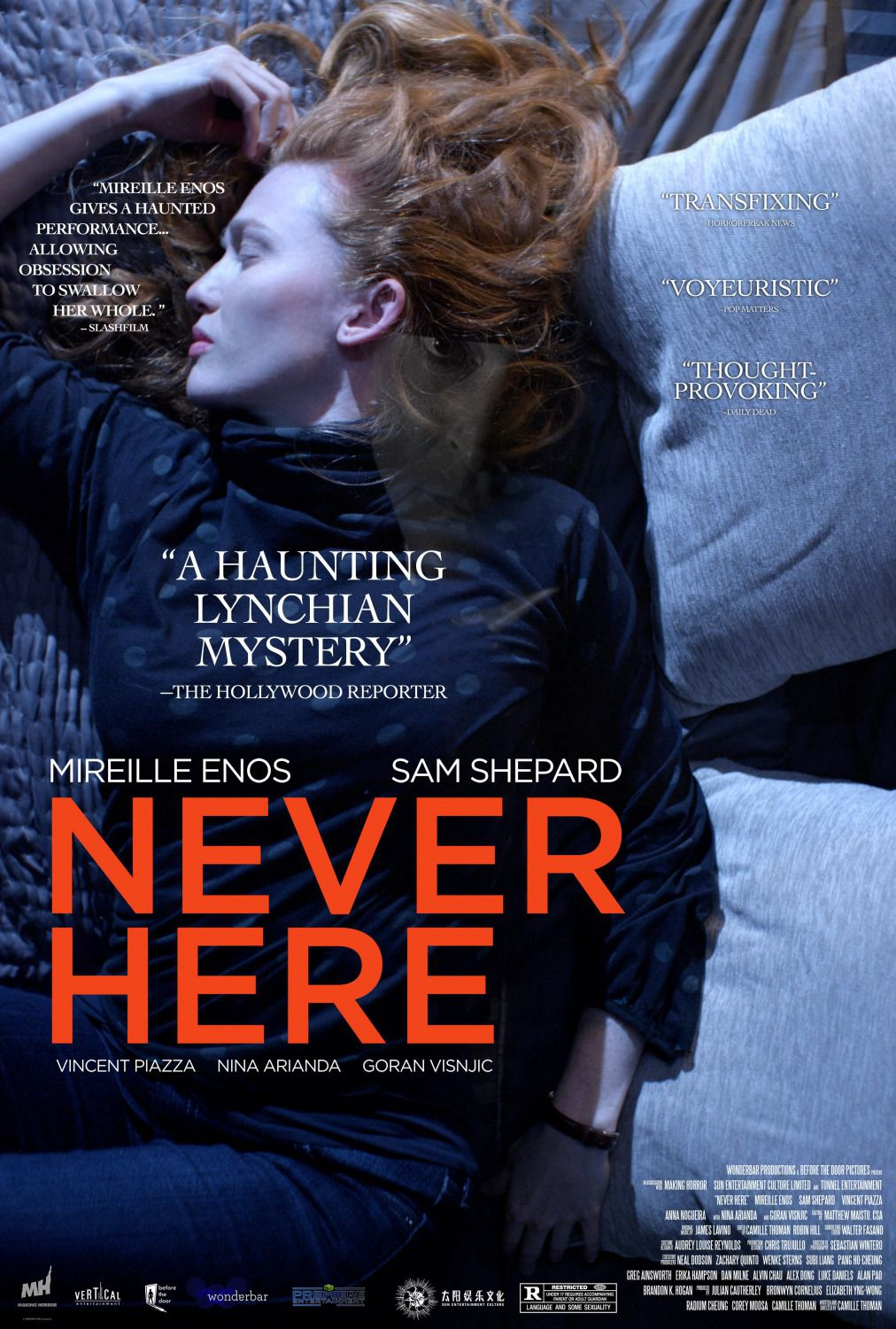 Never here - film poster 2017 - Mireille Enos - San Shepard
