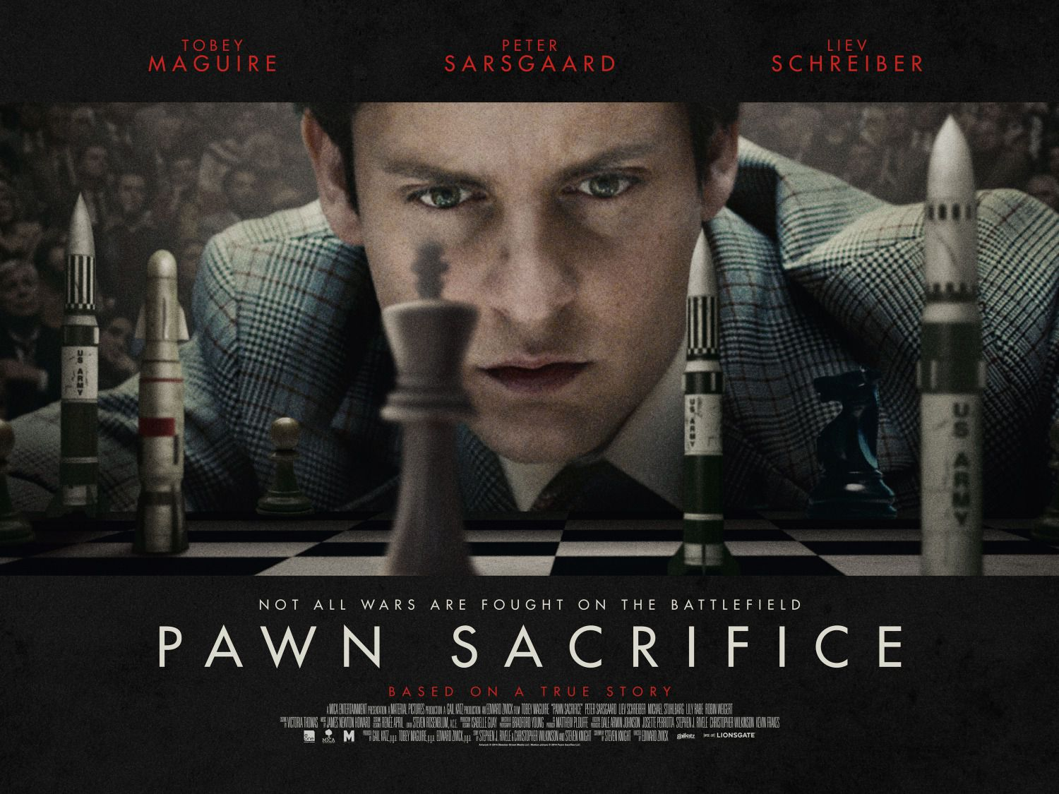 Pawn Sacrifice - La Grande Partita - Tobey Maguire - not all wars are fought on the battlefield - based on a true story