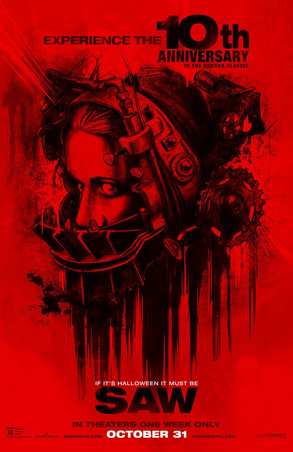SAW - film poster red