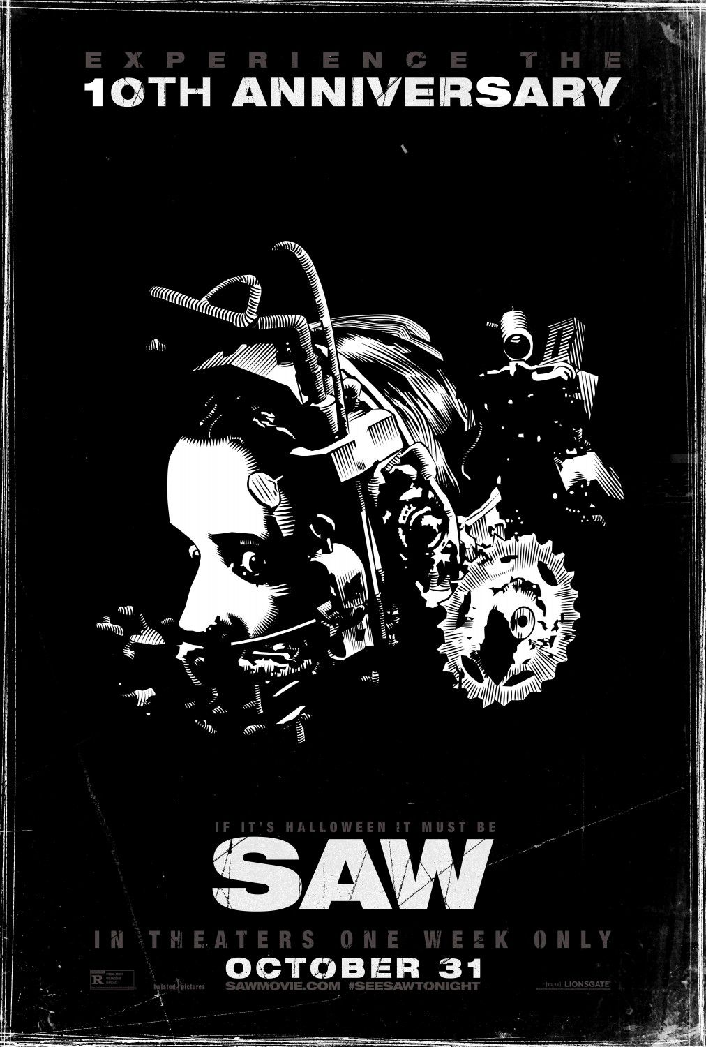 SAW - film poster black