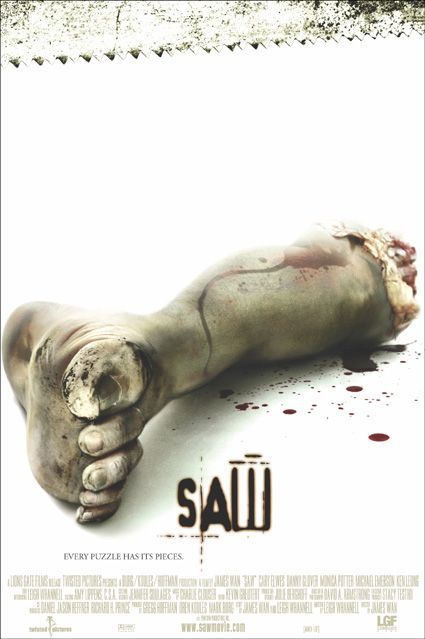 SAW - film poster - foot - piede