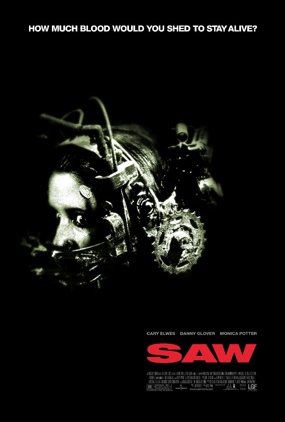 SAW - film poster - first horror
