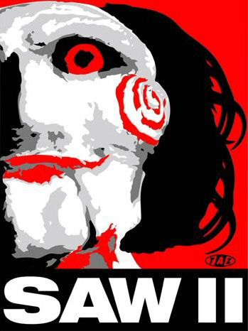 SAW 2 - film poster - pupet logo