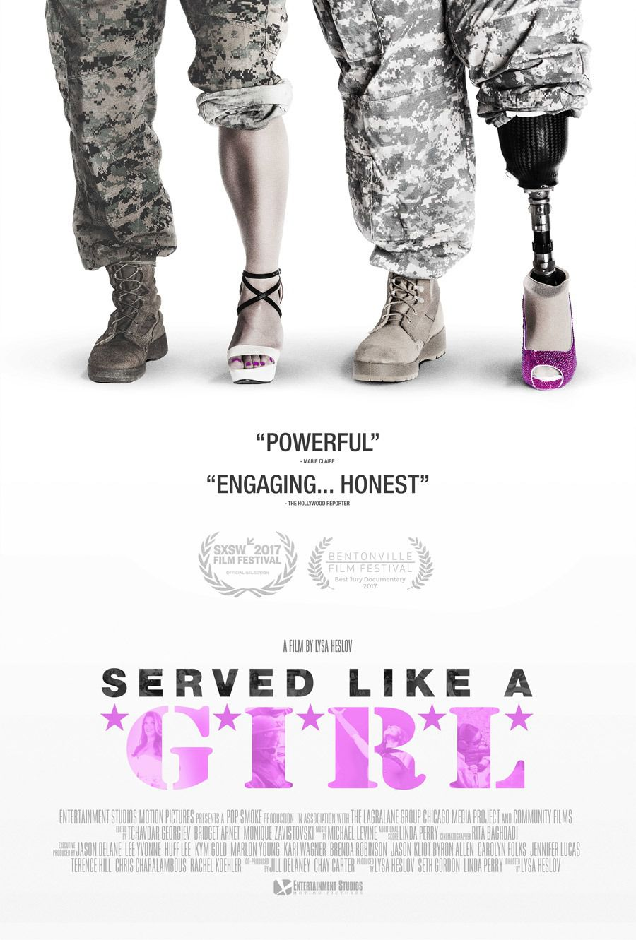 Served like a girl - docu film poster