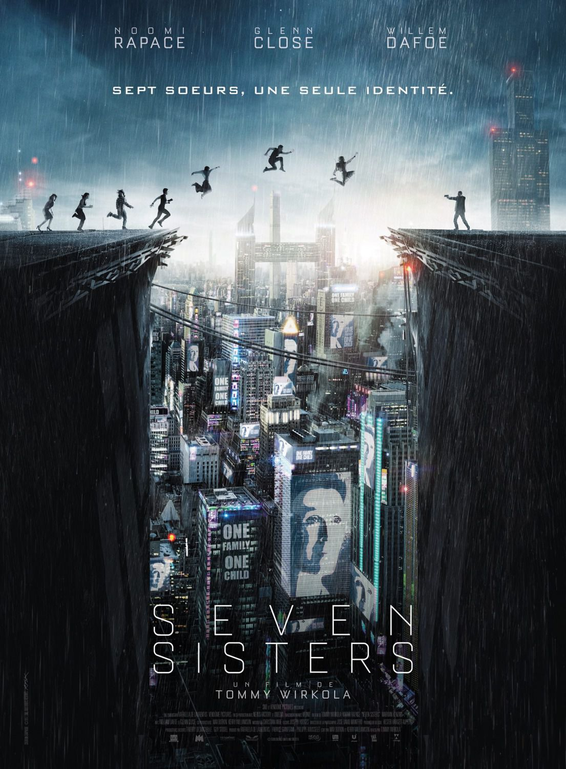 Film - Seven Siters - What happened to Monday - Sette Sorelle - Noomi Rapace - Glenn Close - Willem Dafoe - Sette Sorelle, una sola identità