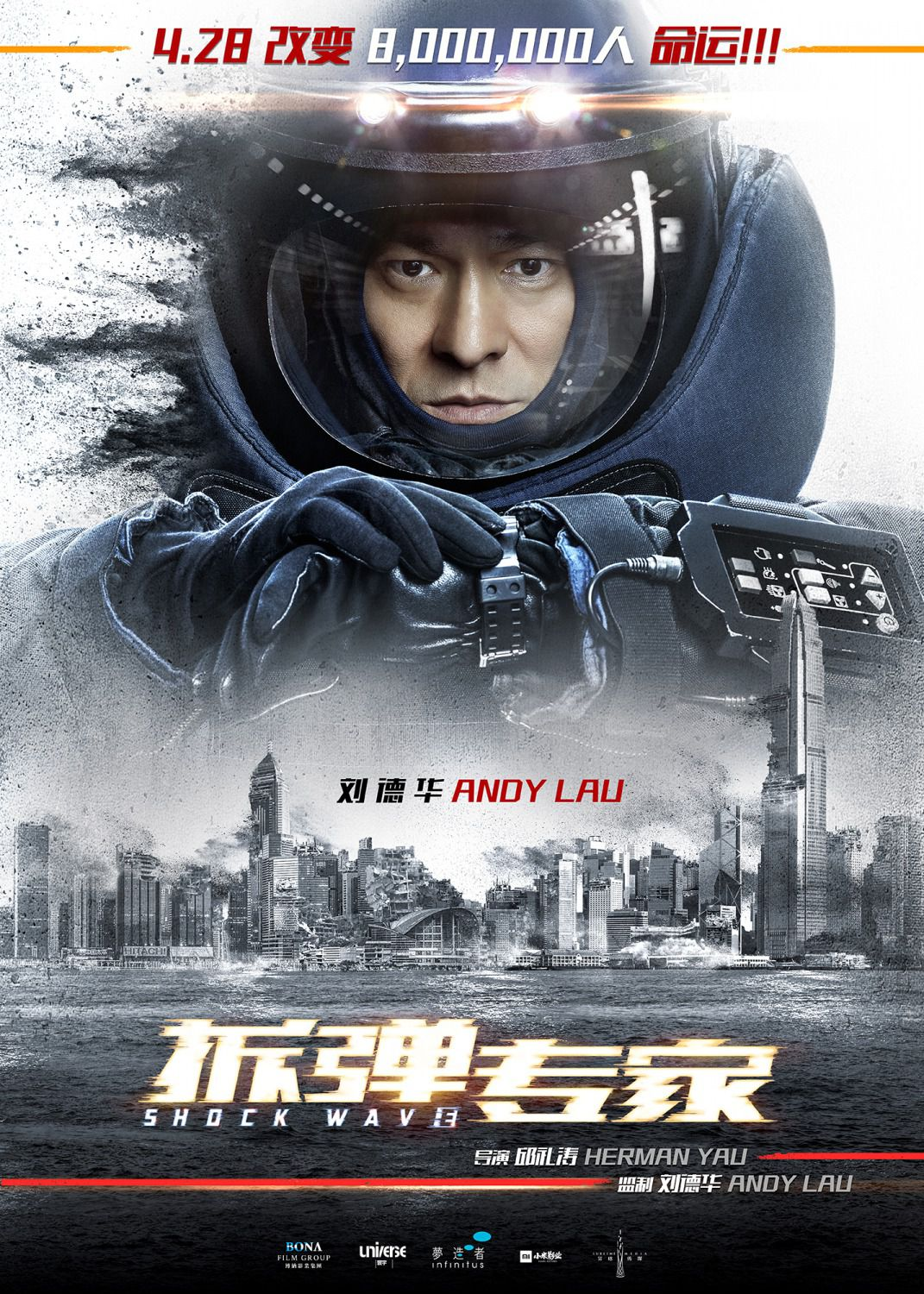 Shock Wave - climate change - film poster - Andy Lau
