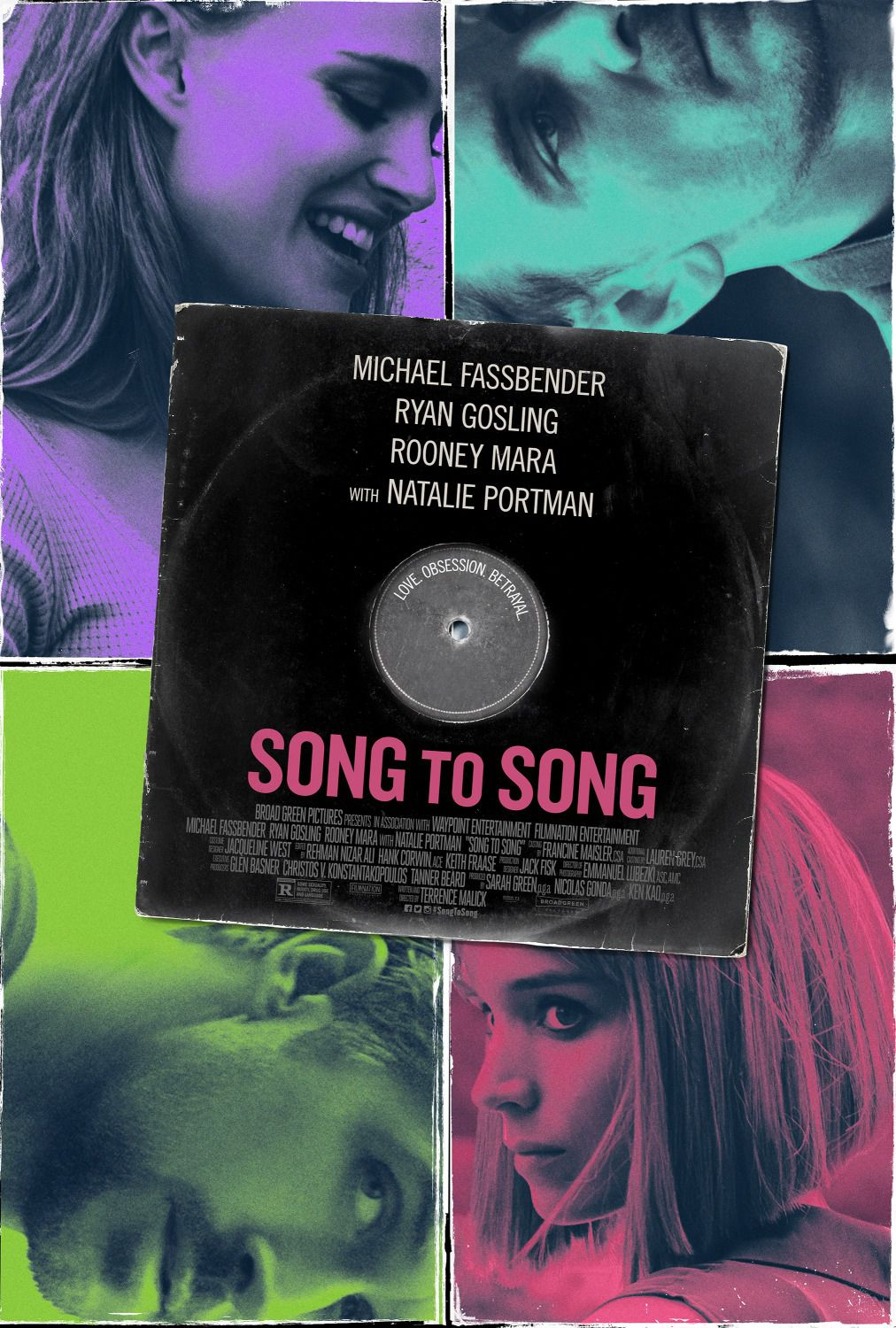 Song to Song - Love, Obsession, Betrayal - Michael Fassbender - Ryan Gosling - Rooney Mara - Natalie Portman