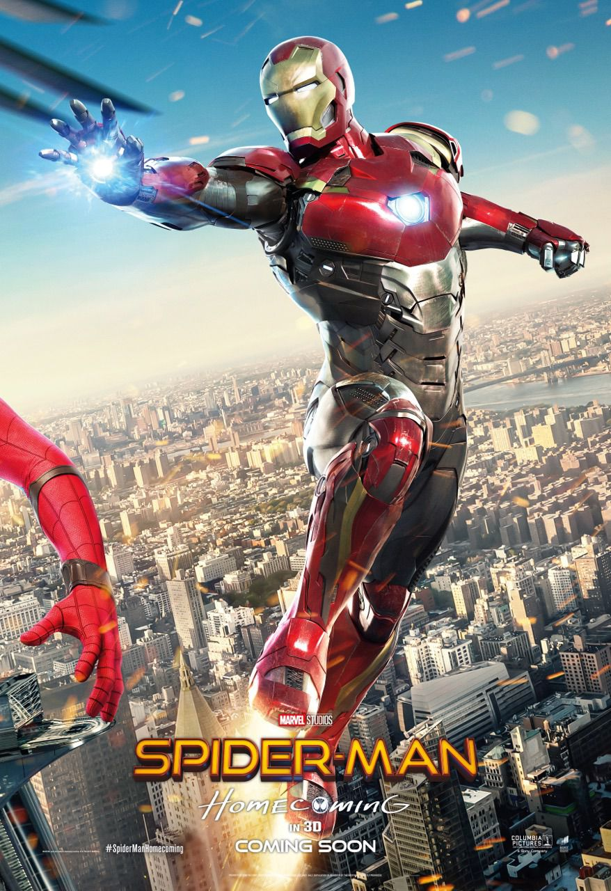 Spiderman homecoming poster - iron man