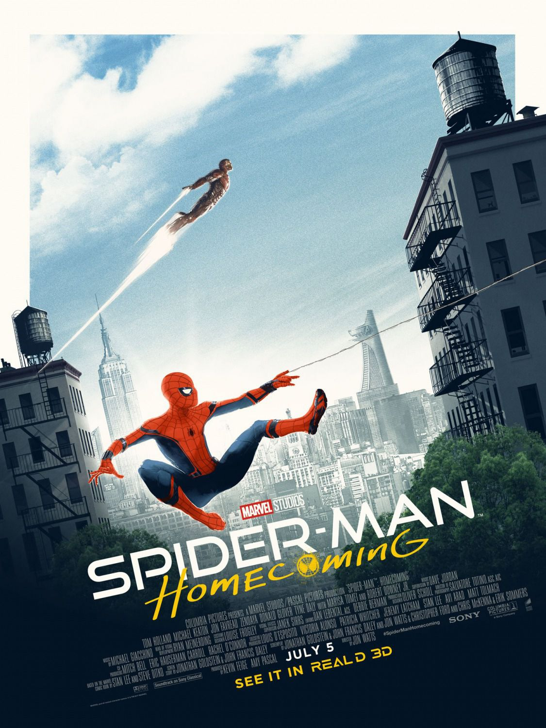 Spiderman homecoming poster jump
