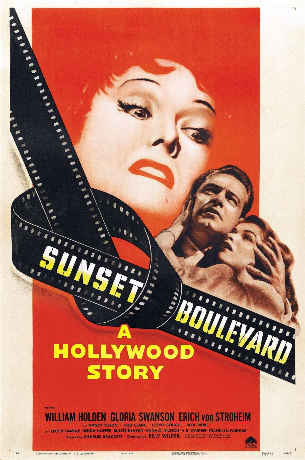 Sunset Boulevard  -  Sul Viale del Tramonto - old classic film movie poster