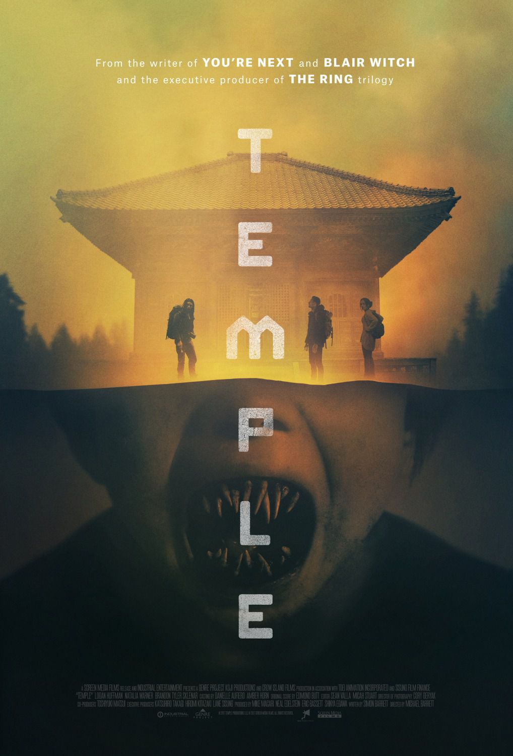 Temple ... japanese horror film poster
