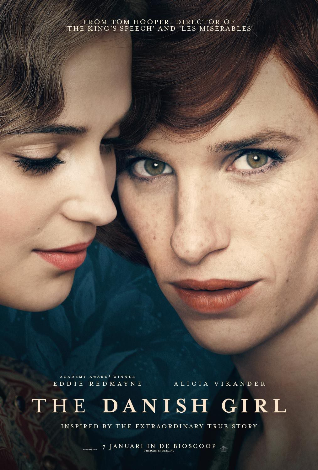 The Danish Girl - Tom Hooper - Eddie Redmayne - Alicia Vikander - Amber Heard - Matthias Schoenaerts - film poster