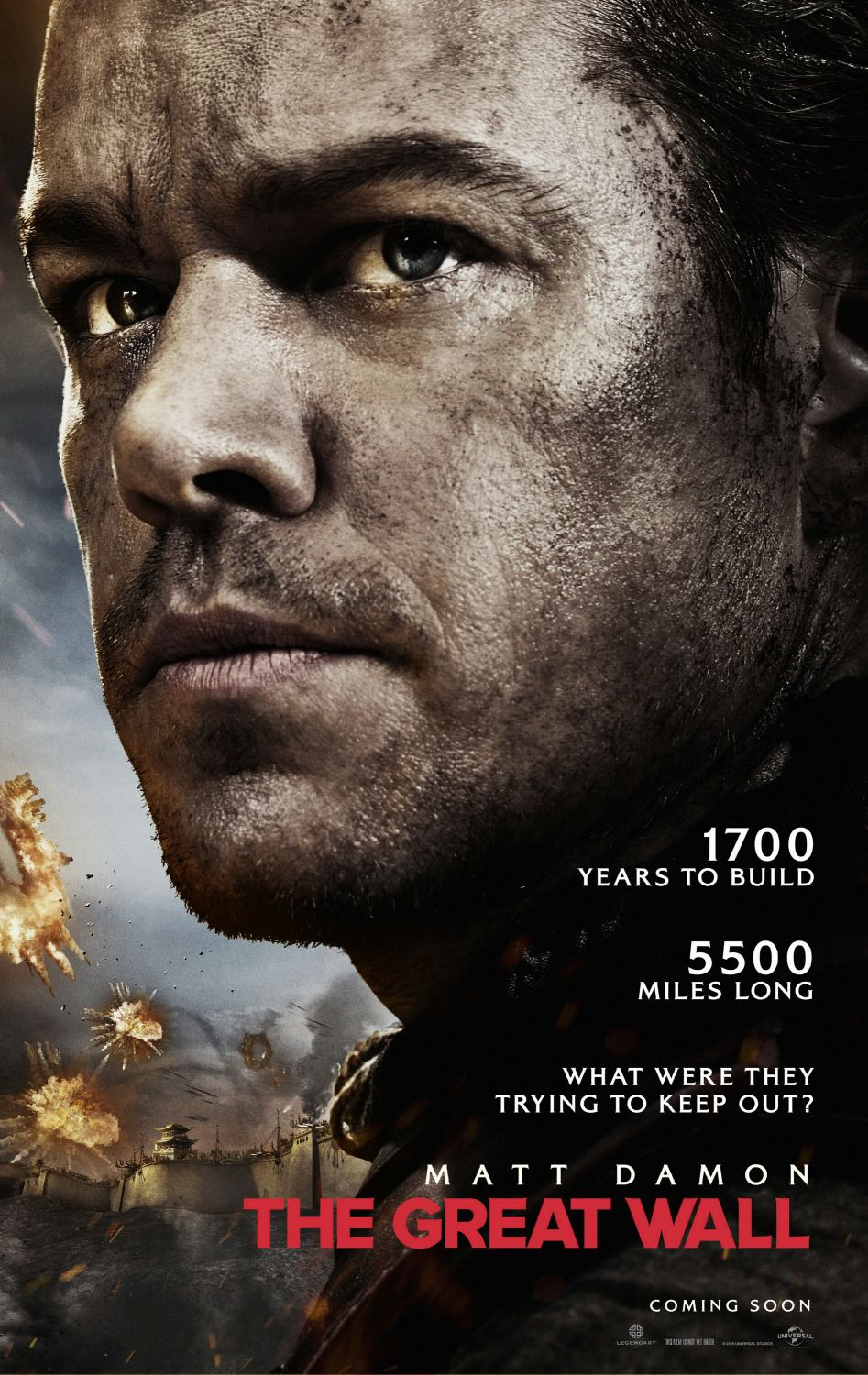 The Great Wall - film poster - Matt Damon
