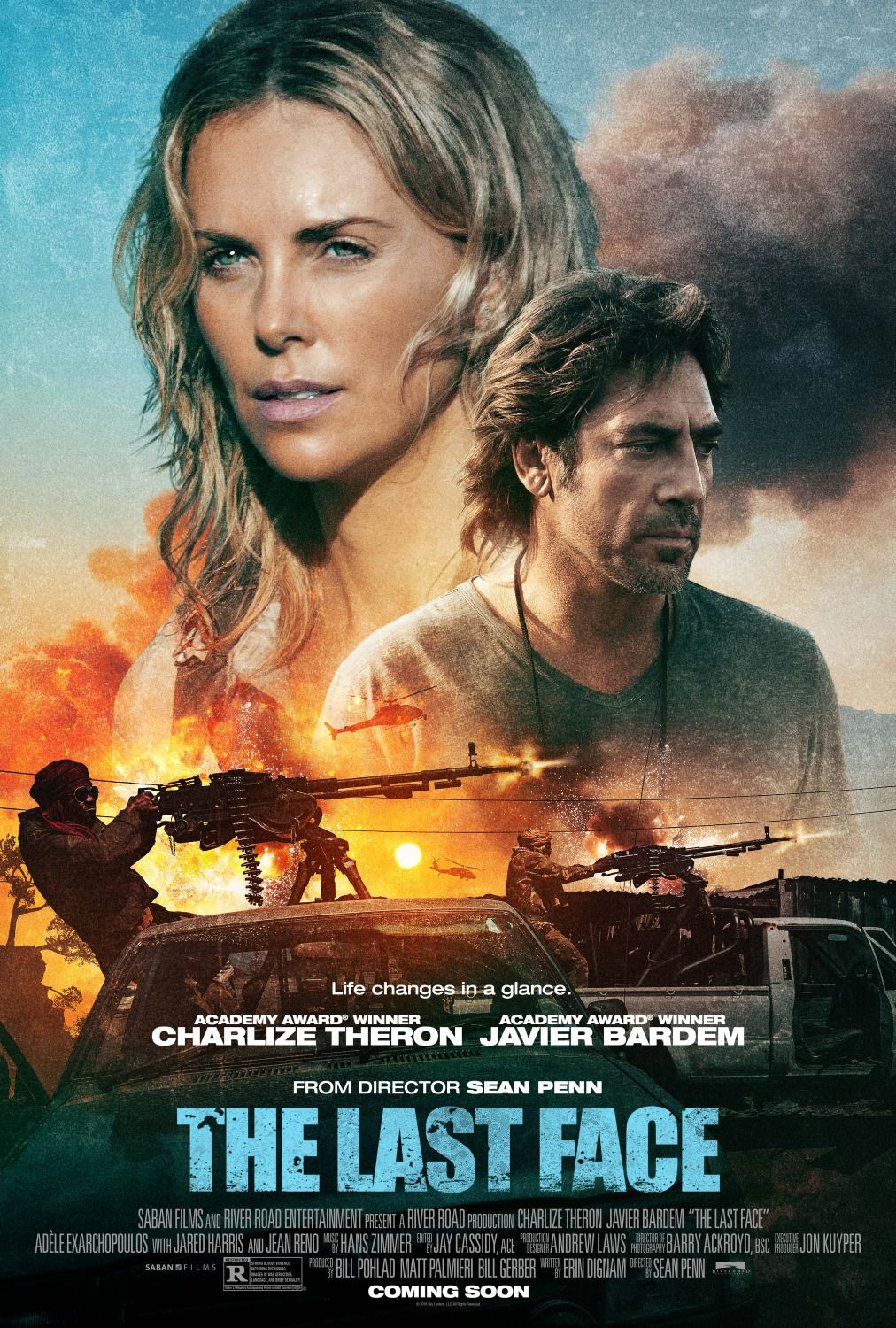 The Last Face - life change in a glance - Charlize Theron - Javier Bardem from Director Sean Penn - film poster