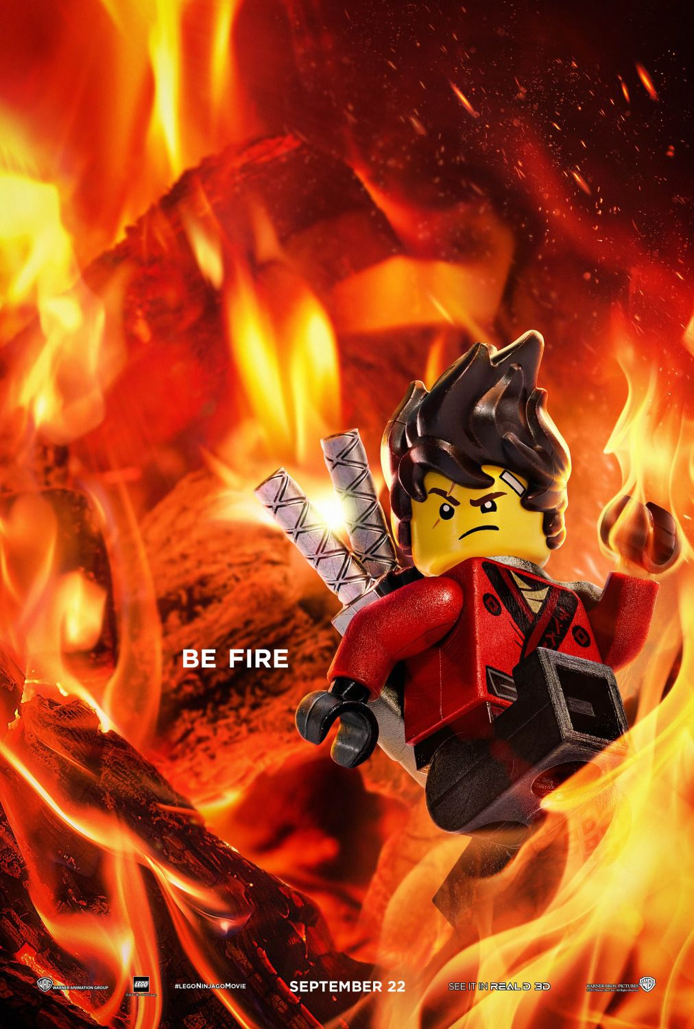 The Lego Ninjago Movie be fire