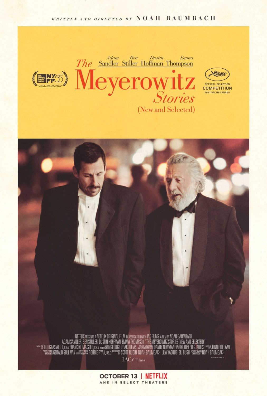 The Meyerowitz stories - Adam Sandler - Dustin Hoffman - film poster
