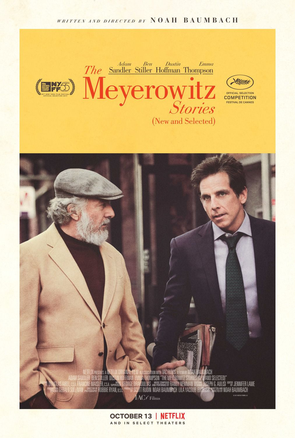 The Meyerowitz stories - Ben Stiller - Dustin Hoffman - film poster