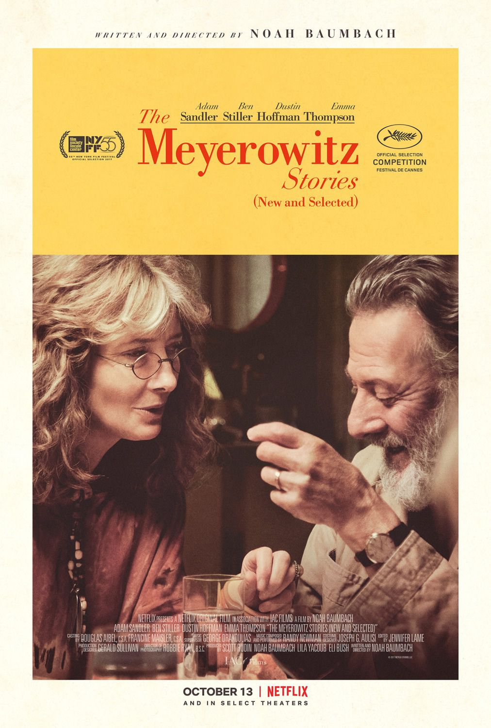 The Meyerowitz stories - Dustin Hoffman - Emma Thompson - film poster