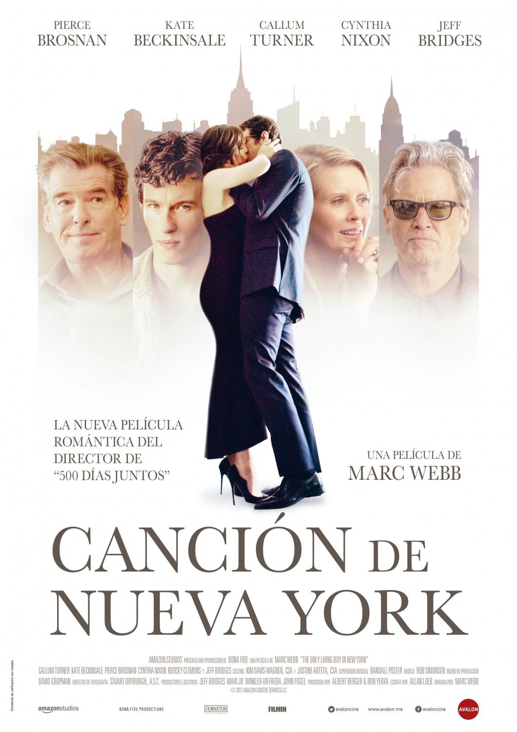 The Only Living Boy in New York - Pierce Brosnan - Kate Beckinsale - Callum Turner - Cynthia Nixon - Jeff Bridges - film poster