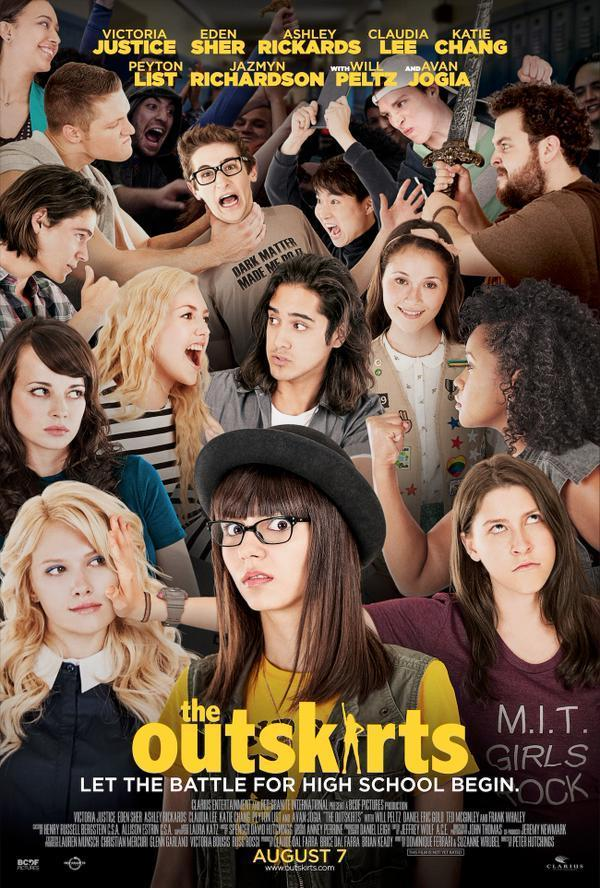 The Outcasts - The Outskirts - Victoria Justice - Eden Sher - Ashley Rickards - Claudia Lee - Kate Chang - Peyton List - Jazmyn Richardson - Will Peltz - Avan Jogia - film poster
