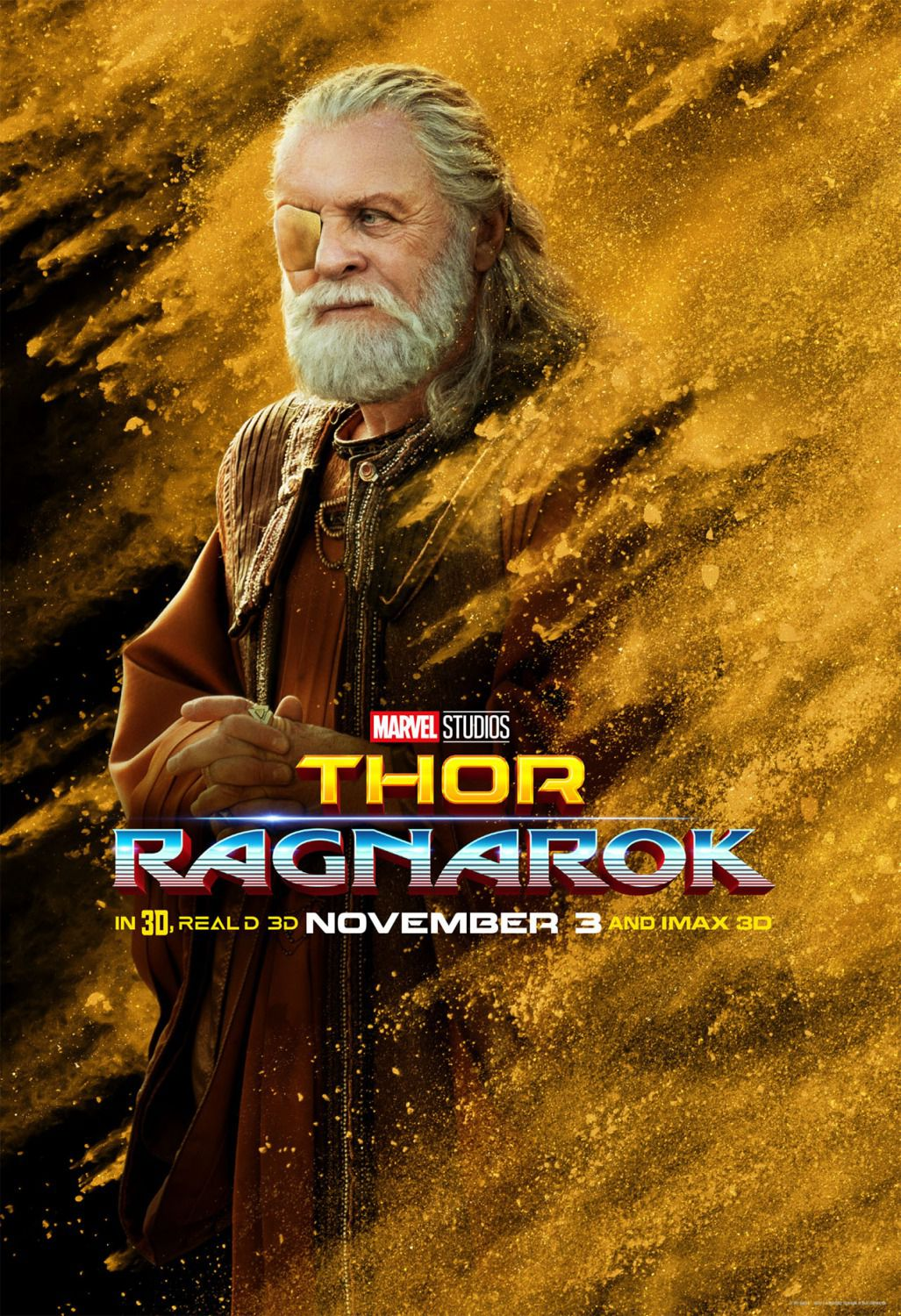 Thor Ragnarok - poster Anthony Hopkins - Odino
