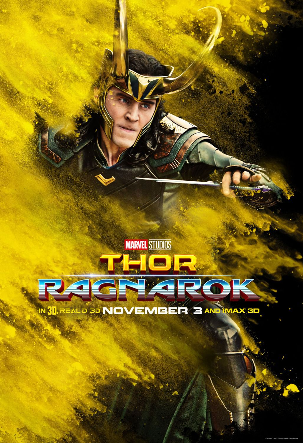 Thor Ragnarok - poster Tom Hiddleston - Loki